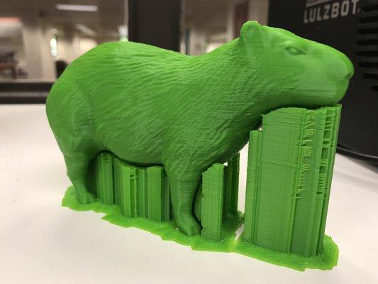 3D printed capybara
